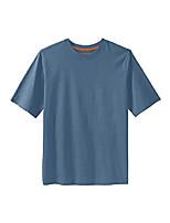 cheap -kingsize men's big & tall heavyweight crewneck cotton tee shirt,slate blue,big - 7xl
