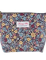cheap -floral print zipper cosmetic makeup case pouch travel bag tote, large (black)