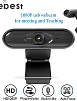 cheap -USB 2.0 1080P HD Webcam With Mic Rotatable PC Desktop Web Camera Cam Mini Computer WebCamera Cam Video Recording Work