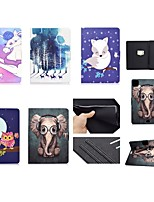 cheap -Case For Apple iPad Air 4 2020 10.9 iPad Pro 11 10 .2 2019 9.7 2017 2018 Mini 12345 Card Holder with Stand Pattern Full Body Cases Animal  Tree PU Leather