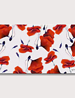 cheap -Oil Painting Hand Painted - Abstract Floral / Botanical Modern Rolled Canvas (No Frame)