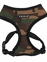 cheap -soft dog harness, camouflage, large