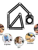 cheap -Six Folding Ruler Floor Tile Hole Locator Template Measuring Tool Protractor Multi-Angle Glass Arrangement Universal Puncher