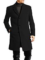 cheap -men's all weather top coat, black, 46r