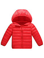 cheap -girl's lightweight water-resistant packable hooded puffer jacket, ombre pink, x-small