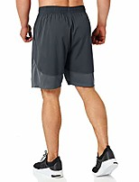 """cheap -men's 7"""" workout running shorts with zipper pocket quick dry gym athletic shorts lightweight(dark gray-m)"""