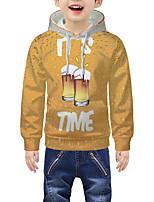 cheap -Kids Boys' Active 3D Graphic Print Long Sleeve Hoodie & Sweatshirt Yellow