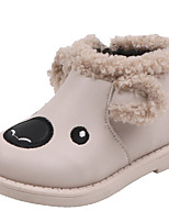 cheap -Boys' Girls' Boots Snow Boots PU Snow Boots Little Kids(4-7ys) Walking Shoes Black Pink Beige Fall Winter / Booties / Ankle Boots / Rubber