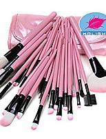 cheap -32pcs top professional wool cosmetic makeup brush set kit brushes&tools make up case (pink)