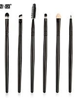 cheap -soft make up brush set  eyeshadow eyebrow eyeliner lip foundation cream contour powder blush cosmetic concealer brushes 6pcs (black)
