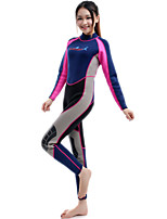 cheap -Bluedive Women's Full Wetsuit 2mm SCR Neoprene Diving Suit Thermal Warm Quick Dry Stretchy Long Sleeve Back Zip - Swimming Diving Surfing Patchwork Spring &  Fall Summer