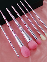 cheap -7 Pcs makeup brush set diamond-shaped mermaid makeup brushes double-headed eyebrow brush and eyelash brush complete set for beginners