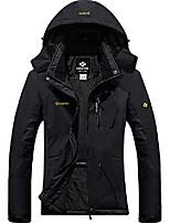 cheap -women's winter windproof jacket waterproof thicken coats with removable hood(black,l)