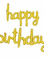 cheap -happy birthday gold balloons banner,16 inch mylar foil letters balloons reusable ecofriendly material for birthday party decorations