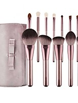 cheap -12 Pcs Lilac Makeup Brushes Set Soft Hair Beginners Beauty Tools A Full Set Of Small Grape Brushes