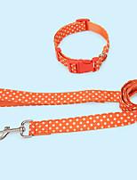 cheap -Dog Rabbits Cat Collar Leash Decoration Anti Lost Nylon Orange