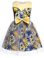 cheap -Princess Dress Party Costume Flower Girl Dress Girls' Movie Cosplay Princess Yellow Dress Children's Day Masquerade Polyester