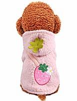cheap -cat dog clothing, fashion dog plush sweater keep warm strawberry coat pet cat dog winter warm clothes