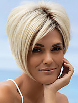 cheap -Synthetic Wig Curly Asymmetrical Wig Short Brown Blonde Silver Synthetic Hair Women's Comfortable Exquisite Comfy Silver Brown