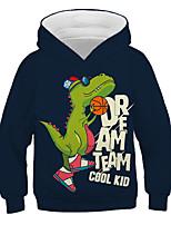 cheap -Kids Toddler Boys' Active Streetwear Graphic Letter Print Long Sleeve Hoodie & Sweatshirt Navy Blue