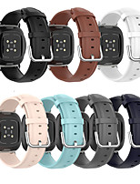 cheap -For Fitbit Versa 3 Smart Watch Band Genuine Leather Strap For Fitbit Sense Watchband Bracelet Wristband Watch Accessories
