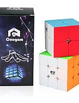 cheap -Speed Cube Set 2 pcs Magic Cube IQ Cube 2*2*2 3*3*3 Speedcubing Bundle Stress Reliever Puzzle Cube Stickerless Smooth Office Desk Toys Kid's Adults Toy Gift