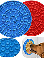 cheap -lick mat for dogs, slow feeder dog lick pad for easy and funny bathing, grooming and training, strong suction - set of 2