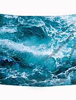 cheap -wowzone ocean wave tapestry blue sea tapestry art wall hanging bedding wall art decor bathroom fabric home dorm living room 51x59inch