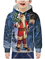 cheap -Kids Boys' Active 3D Christmas Print Long Sleeve Hoodie & Sweatshirt Rainbow