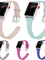 cheap -Watch Band for Apple Watch Series 6 / SE / 5/4 44mm / Apple Watch Series 6 / SE / 5/4 40mm Apple Sport Band Silicone Wrist Strap