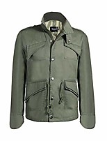 cheap -men's fashion new military casual jacket zip button coat (us:m/asia tag xl, army green)