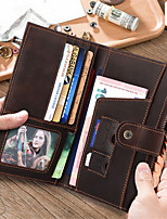 cheap -Travel Wallet Passport Holder & ID Holder Document Organizer Large Capacity Waterproof Anti-theft Casual Traveling PU Leather Classic Gift For Men and Women 10.5*1.5*16.5 cm
