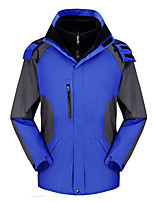 cheap -Men's Softshell Jacket Winter Outdoor Waterproof Windproof Breathable Quick Dry Jacket Softshell Jacket Coat Cotton Camping / Hiking Hunting Fishing Lake blue / Navy / Black / Yellow / Red