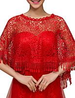 cheap -Half Sleeve Shawls Terylene Wedding Women's Wrap With Lace