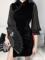cheap -Plague Doctor Goth Girl Gothic Goth Subculture Vacation Dress Party Costume Masquerade Women's Costume Black Vintage Cosplay Party Halloween / Cheongsam