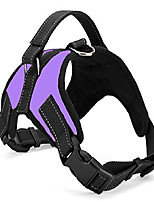cheap -no pull dog vest harness, reflective dog body padded vest with handle, adjustable dog walking harness comfort control for small medium large dogs (m, purple)