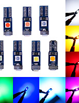 cheap -10PCS CANBUS T5LED W1.2W 3030 3LED Car Interior Light Auto Side Wedge Dashboard Gauge Instrument Lamp Bulb DC12V White Pink