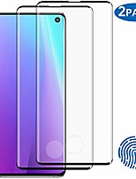 """cheap -2-pack s10 screen protector, fingerprint recognition 3d touch coverage hd clear anti-bubble 9h hardness tempered glass screen protector for samsung galaxy s10 (6.1"""")"""