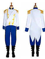 cheap -Prince Cosplay Costume Outfits Masquerade Men's Movie Cosplay Cosplay Halloween White Top Pants Halloween Carnival Masquerade Cotton