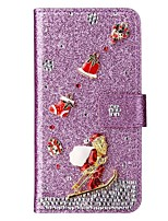 cheap -Case For Samsung Galaxy S20 Ultra Wallet Card Holder Christmas Glitter Shine Diamond Feathers PU Leather Case For Samsung S20 Plus S10 Plus S9 Plus S8 Plus S7 Edge Note 10 Pro A51 A71 Note 9 Note 8