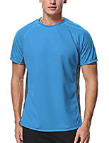cheap -rash guard men uv loose fit swim shirts short sleeve rashguard blue xl