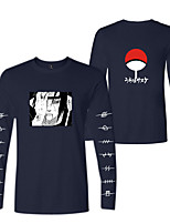 cheap -Inspired by Naruto Cosplay Akatsuki Uchiha Itachi Hoodie Polyester / Cotton Blend Print Printing Hoodie For Men's / Women's