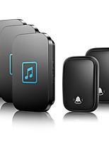 cheap -CACAZI Self-powered Waterproof Wireless Doorbell No Battery  Home Cordless Call Bell 2 Button 3 Receiver