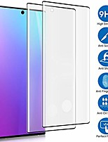 """cheap -[2-pack] samsung galaxy note 10+ (6.8"""") tempered glass screen protector, 9h hardness/anti-fingerprint/ultra-clear/bubble free 3d curved tempered glass film compatible samsung galaxy note 10+"""
