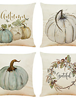 cheap -Cushion Cover 4PC Linen Soft Decorative Square Throw Pillow Cover Cushion Case Pillowcase for Sofa Bedroom 45 x 45 cm (18 x 18 Inch) Superior Quality Mashine Washable