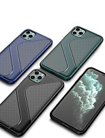cheap -Case For iPhone 11 Shockproof Back Cover Lines / Waves / Solid Colored TPU Case For iPhone 11 Pro/11 Pro Max /XS/XS Max/XR/6 7 8 Plus/SE 2020