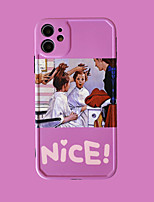 cheap -Case For iPhone 11 Pattern Back Cover Word Phrase Cartoon TPU Case For iPhone 11 Pro Max / SE2020 / XS Max / XR XS 7 / 8 7 / 8 plus