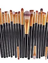cheap -20 pcs makeup brush set tools wool make up brush set (gold)