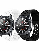 cheap -sport bands for samsung galaxy watch 3 45mm/galaxy watch 46mm/gear s3/ticwatch pro/huawei watch gt 46mm/pebble time steel(black+white)