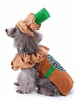 cheap -pet costume puppy latte costume christmas coffee dog cat costume